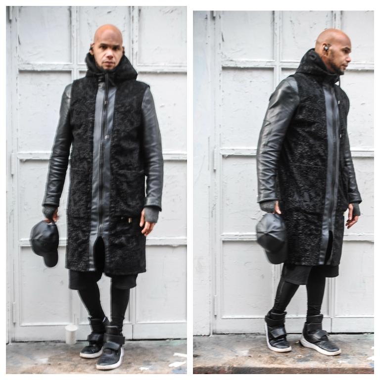 fuax coat black